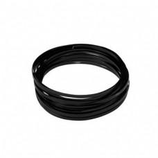 Flat Aluminium Wire Black 2 Metre