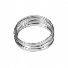 Flat Aluminium Wire Silver 2 Metre